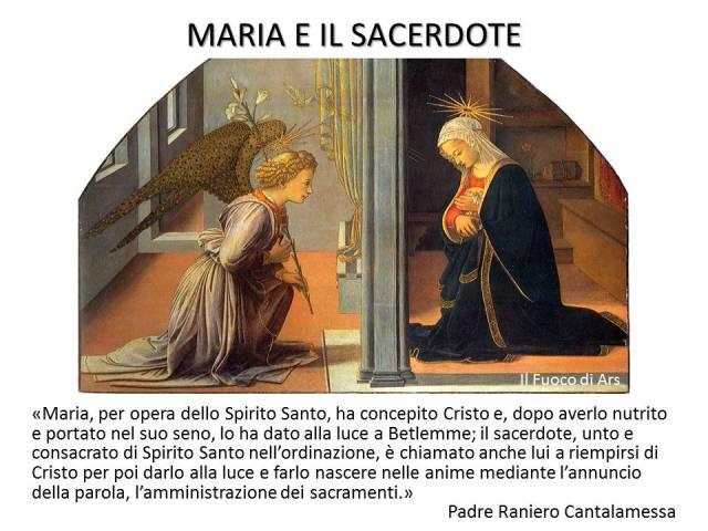 Maria e il sacerdote