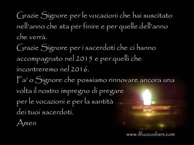 preghiera fine anno per sacerdoti
