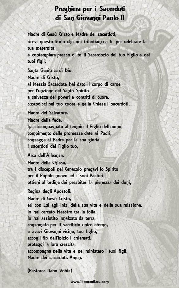 Preghiera Sacerdoti Giovanni Paolo II