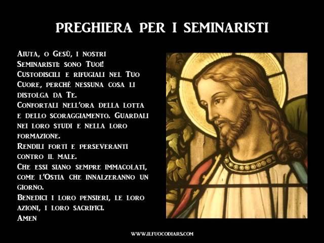 Preghiera seminaristi