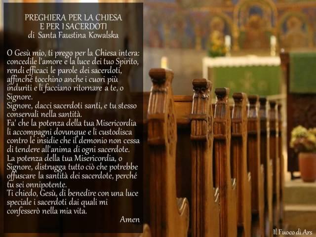 Preghiera suor Faustina