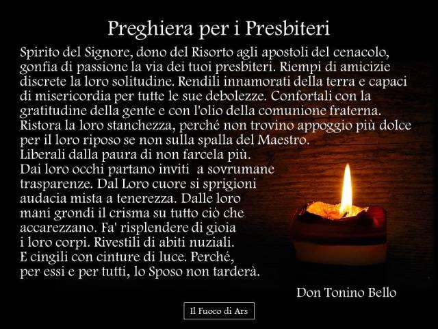 Preghiera per i presbiteri di don Tonino Bello