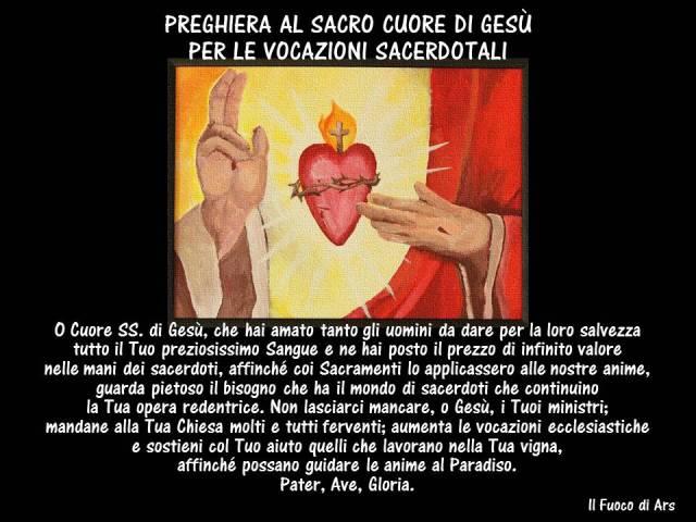 Preghiera Sacro Cuore per le vocazioni